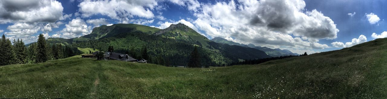 Montains    Switzerland Fribourg Green Grasses Panorama Panoramic Beauty In Nature Nature Nature_collection