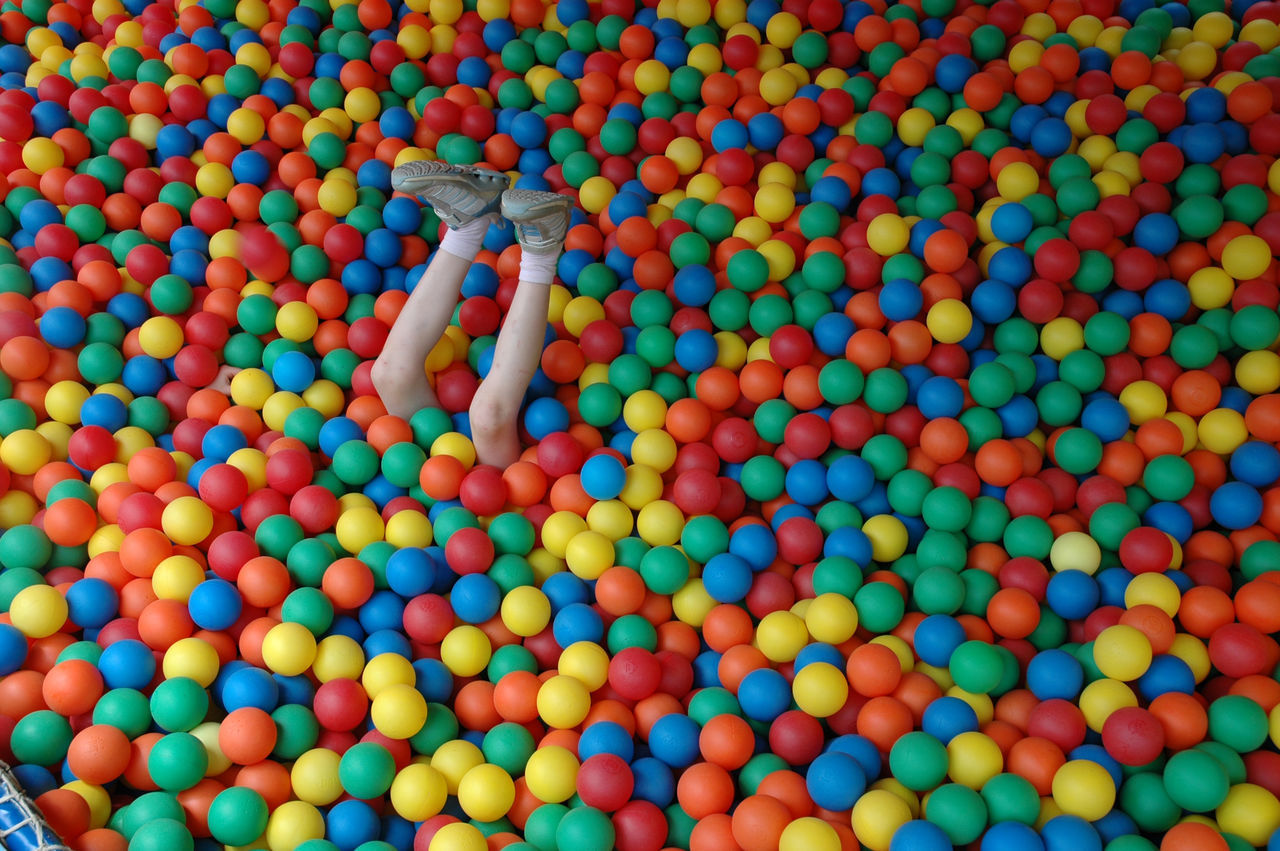 Beautiful stock photos of legs, Abundance, Ball, Close-Up, Colorful