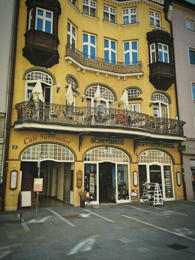 Germany Cafe Architecture Building Yellow