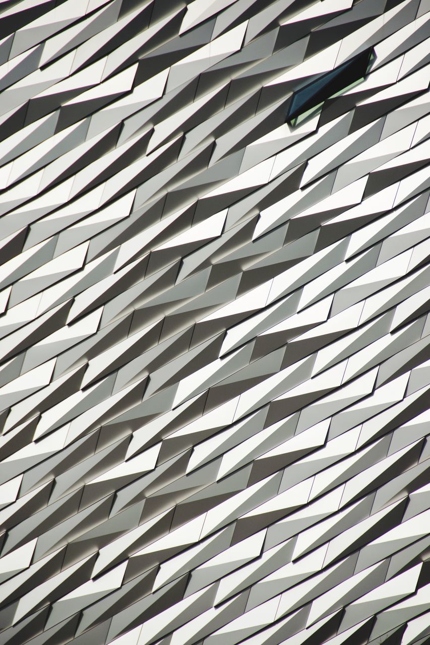 full frame, repetition, backgrounds, pattern, modern, white color, indoors, textured, architecture, office, no people, close-up, day, film industry