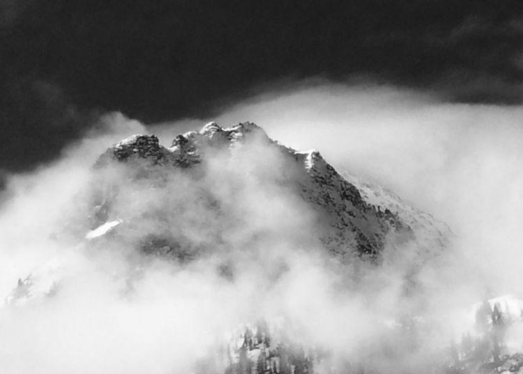 Massif des Aiguilles Rouges, vue de Vallorcine Chamonix-Mont-Blanc Cloud Aiguilles Rouges Beauty In Nature Cold Temperature Day Fog Landscape Mountain Nature No People Outdoors Parc Naturel Scenics Sky