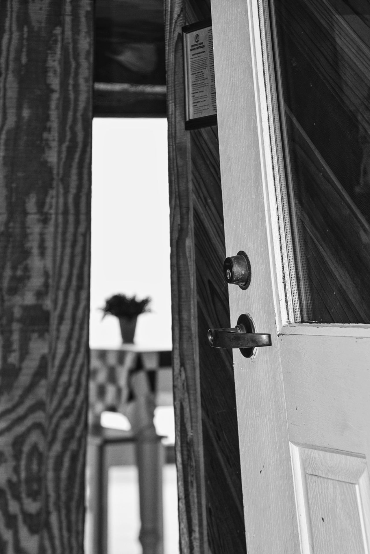 Come in Architectural Detail EyeEm Best Shots - Black + White Views From The Sidewalk Entrance Black And White Photography Doorway Doors Lover Beach Life Coastal Life California Coast Photo Around Me Photos For EyeEm Perfect Moment Entrances EyeEm Best Shots Tablecloth Summer Checkered Table Cloth Windowporn Fine Art Photography Natural Light Monochrome Photography