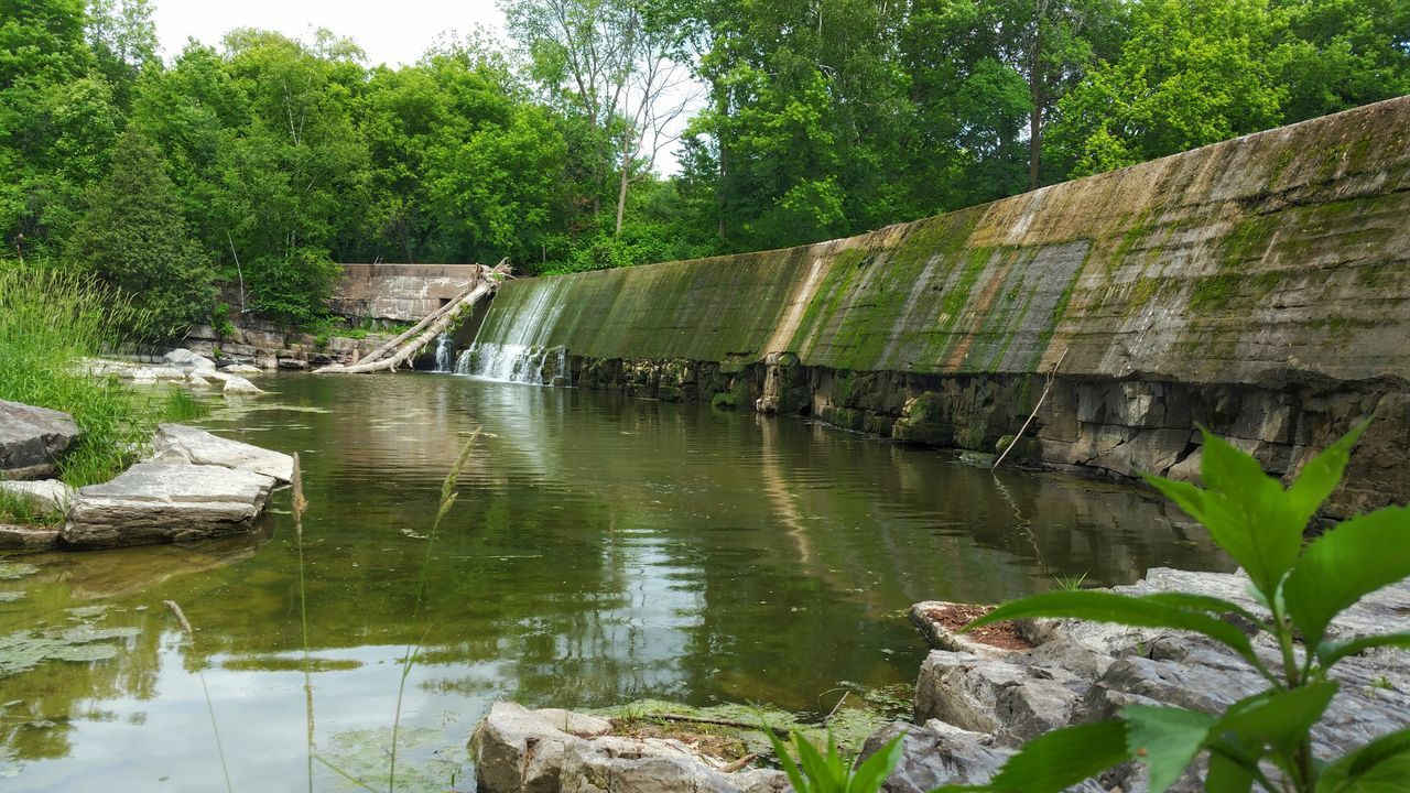 Dam Water Tree Green Color Scenics Waterfall Non-urban Scene Beauty In Nature Stone Material Nature Stone - Object Nature Photography Rigaud Quebec Photooftheday Photography Beauty In Nature Nature_collection Built Structure