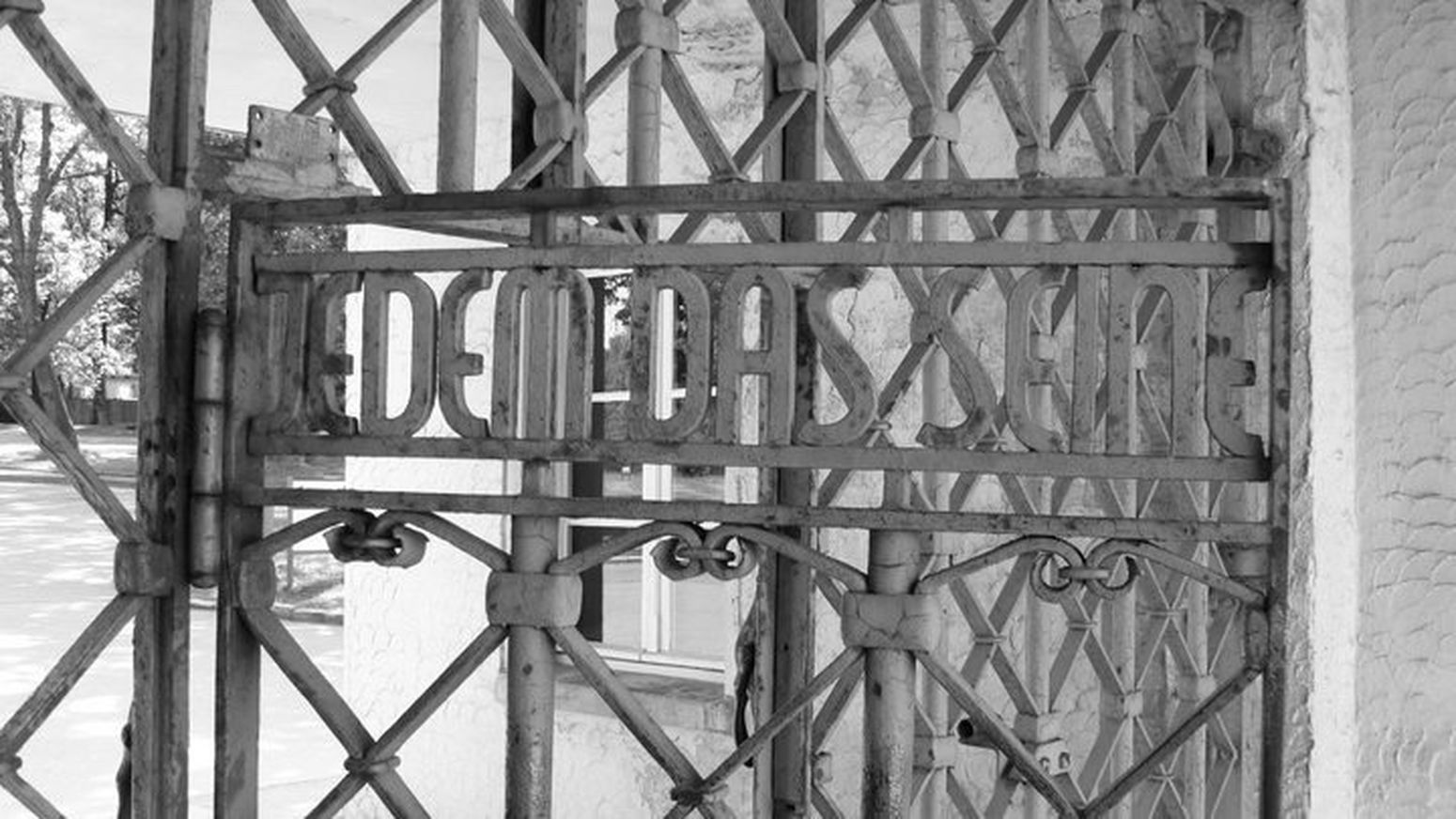 Buchenwald Gate Blackandwhite History Germany