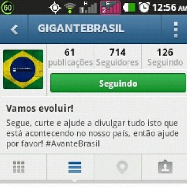 Gente sigam o @gigantebrasil... Followforfollow Followback Instagam Printscreen