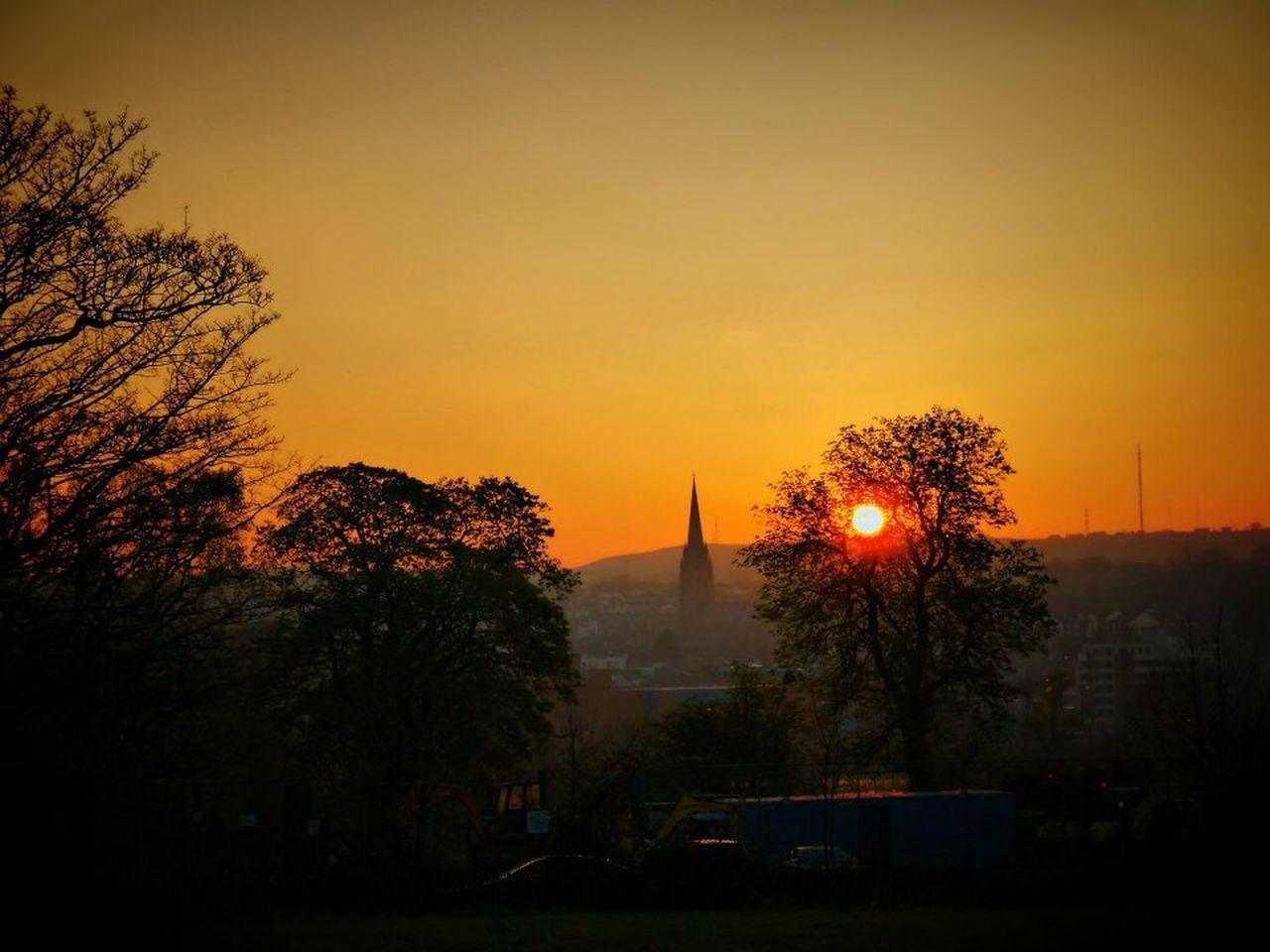 Derry Derrylondonderry St Columbs Park Sun Sunset Tree