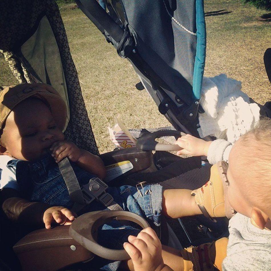 Austin loves his Myles... OrMaybeHeWantsThePopcorn Cousins  SoSweet Mylestone AustinDarnell