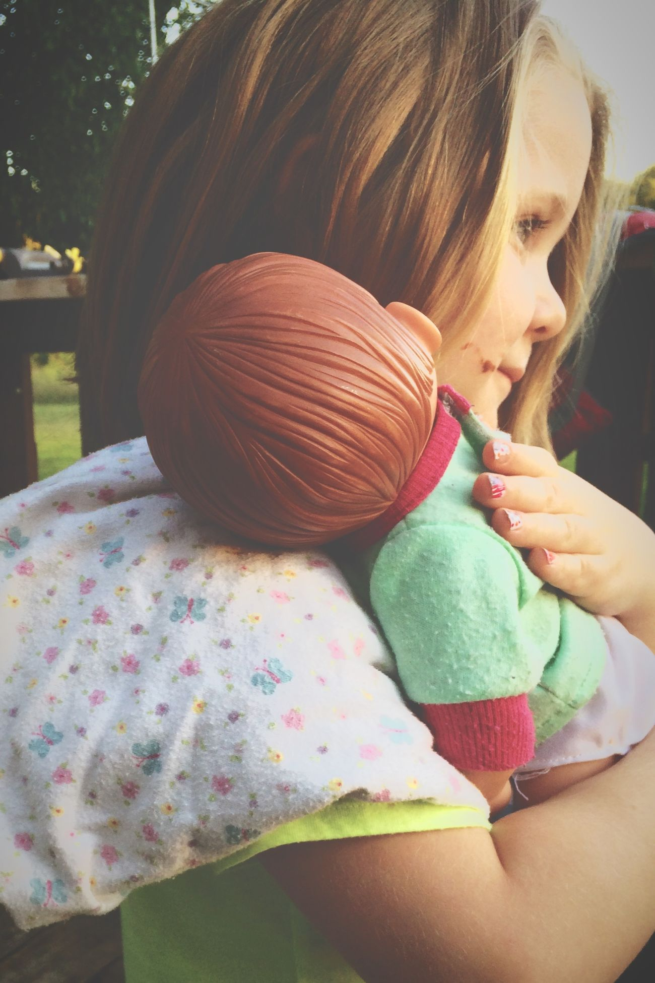 Fouryearsold playing Dolls Littlemommy PreciousMoments United States