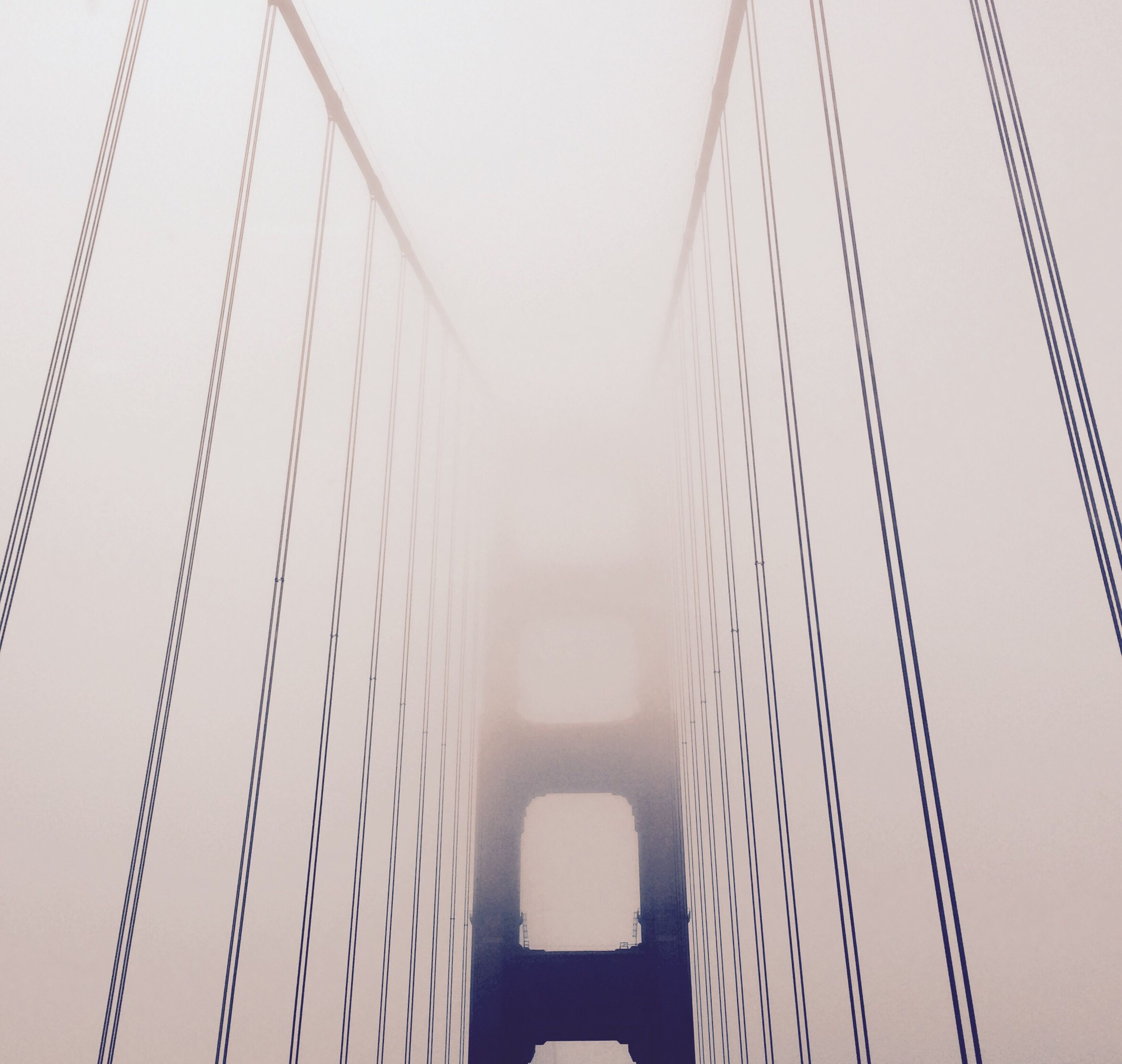 built structure, architecture, low angle view, clear sky, modern, connection, engineering, transportation, suspension bridge, tall - high, travel, sky, bridge - man made structure, no people, day, outdoors, copy space, travel destinations, building exterior, metal