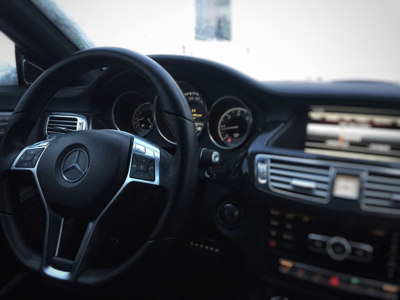 dashboard, car interior, car, steering wheel, black color, no people, technology, speedometer, close-up, gauge, indoors, day