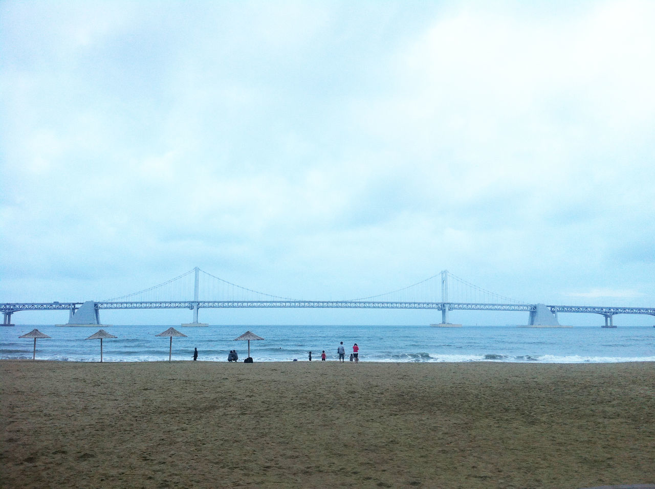 Korea Busan Gwangan Bridge Gwanganli Scenery Beach People Of The Oceans