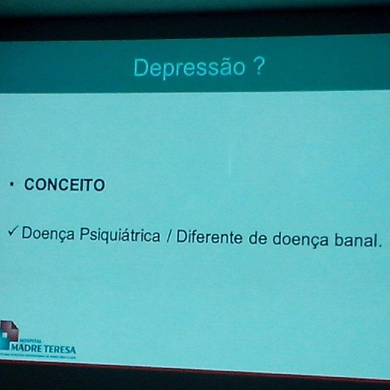Depressão é o tema! Paşa APOSVALE Work Palestra
