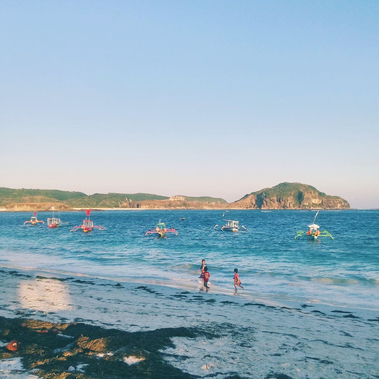 Beach Sea Blue Water Clear Sky Summer Outdoors Vacations Horizon Over Water Nature Live For The Story The Great Outdoors - 2017 EyeEm Awards BYOPaper! Landscape_Collection Place Of Heart