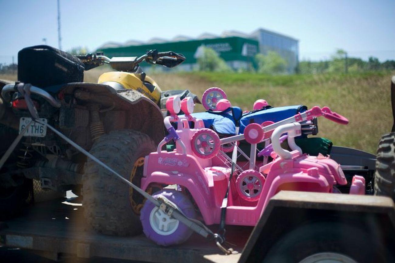 Pink Truck Race Dirt Race