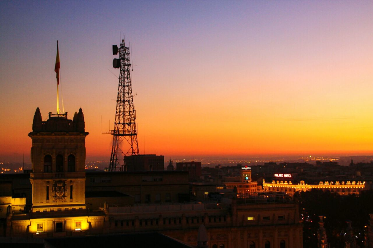 Sunset City Travel Destinations Architecture Cityscape Urban Skyline Sky Built Structure Romantic Sky Building Exterior Night Illuminated No People Outdoors Cultures Antenna Hotel Palace fron Town Hall Tower Town Hall Check This Out EyeEm Gallery Madrid, Spain Madrid Spain Madrid, España Madrid In Colours The City Light Welcome To Black