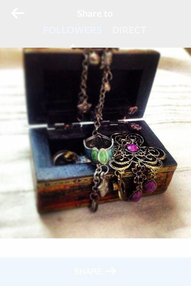 Jewellery Box Brown Gold Earrings