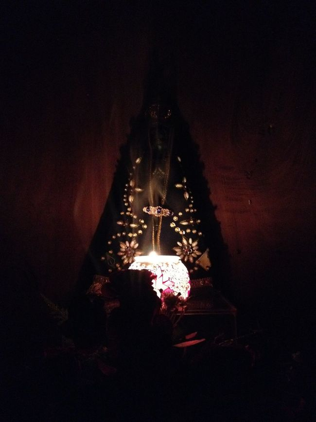 Candle Illuminated Nossa Senhora Aparecida Religion Saint Spirituality