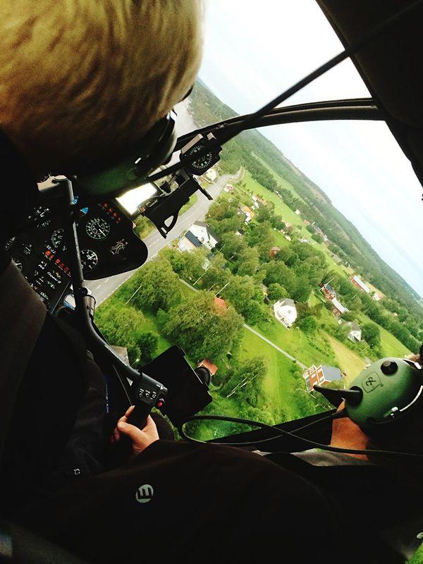 Najs att åka helikopter med Papi 🚁 Storsjön