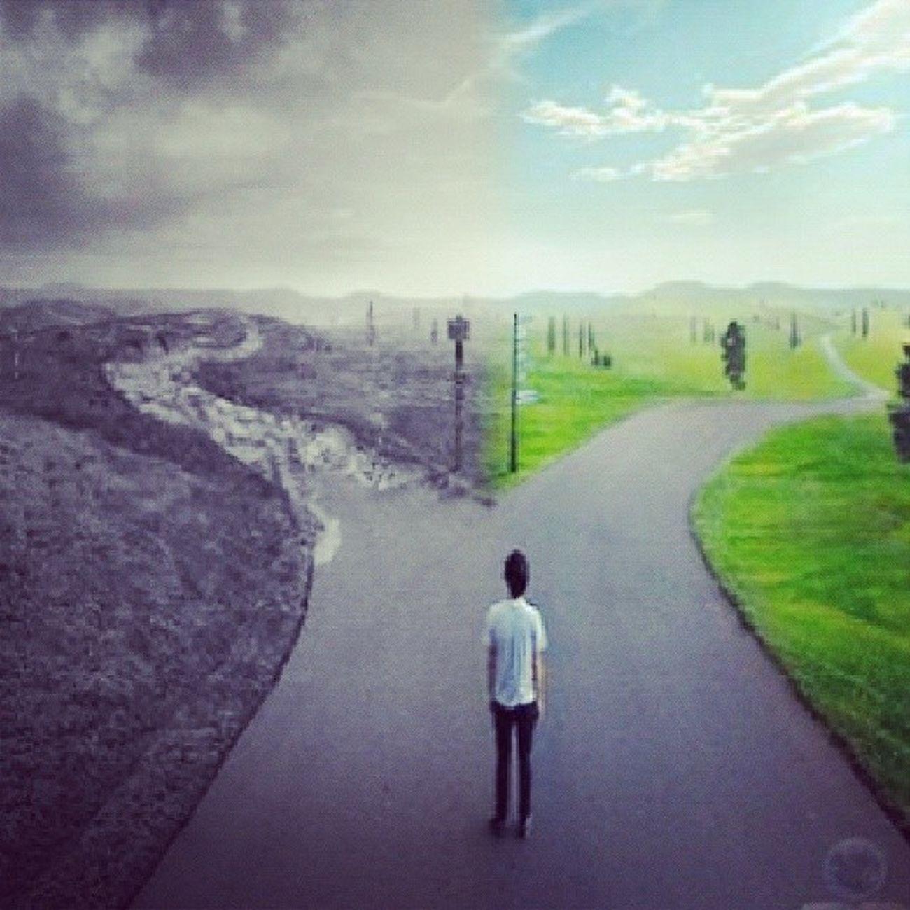 Escolha o seu caminho mais sabemos que so um caminho nos leva ao Pai Hojetemculto Adorar Deus