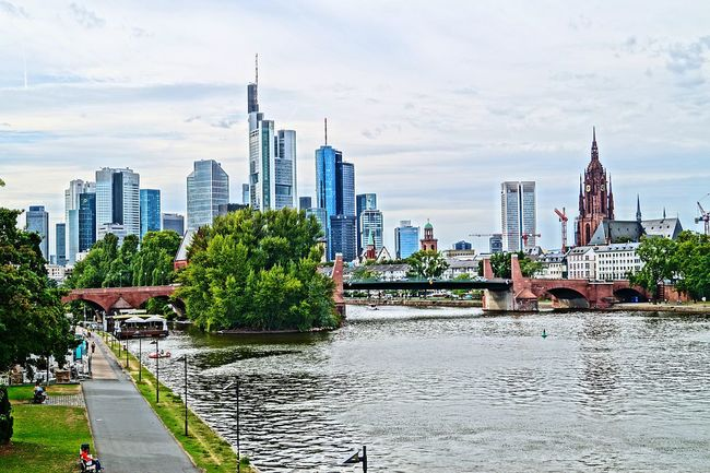 Frankfurt Am Main Skyline Main Germany🇩🇪 City