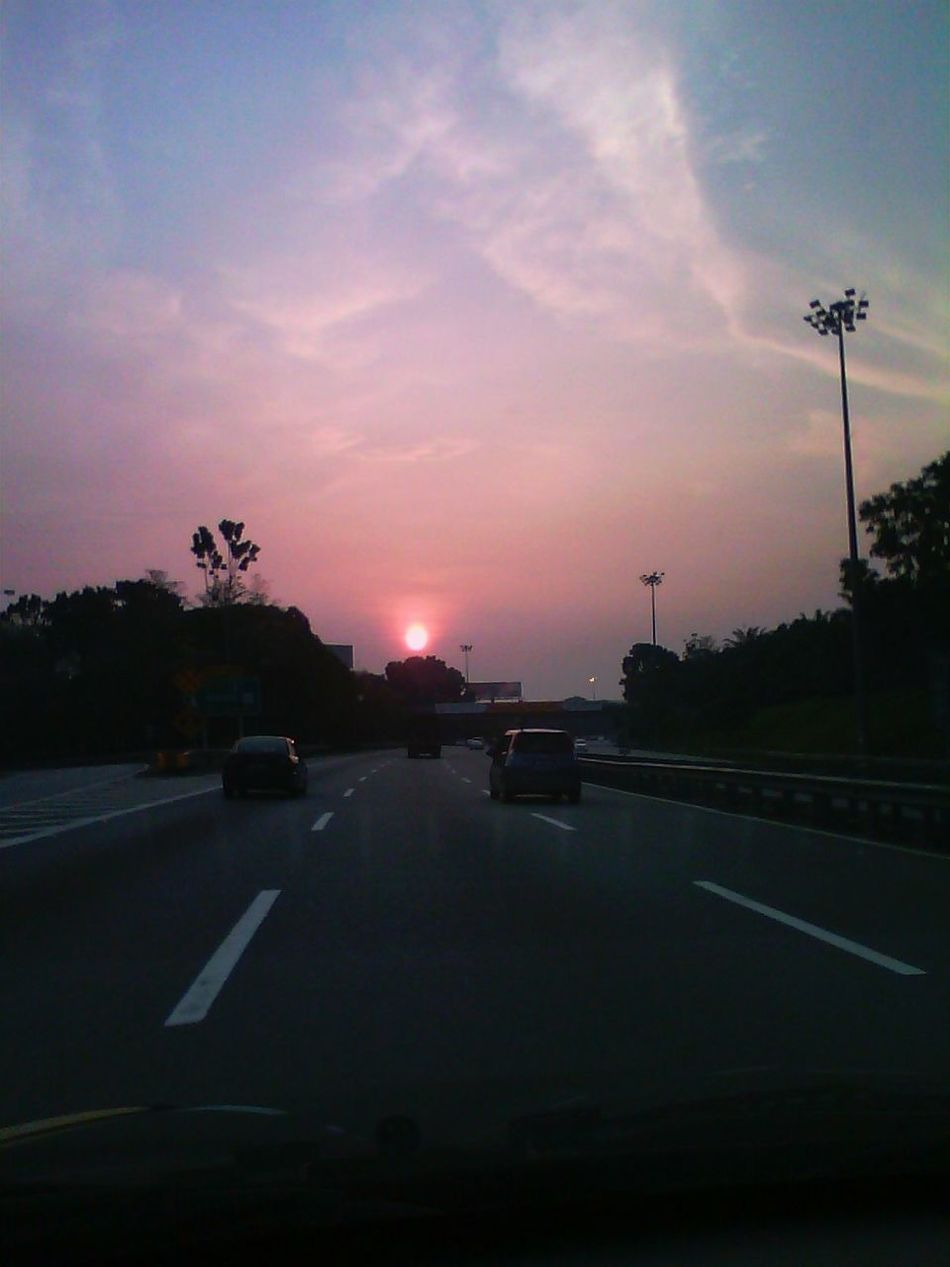 im coming home tell the world im coming home Sunset On The Road Clouds And Sky Road At Dusk