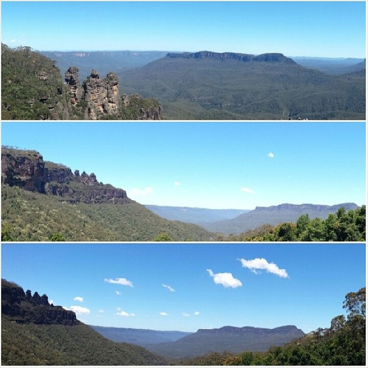 """""""Every mountain top is within reach if you just keep climbing."""" - Barry Finlay 10.12.13 - feeling aussie with first trip to Blue Mountains ;) Trek Roadtrip Trains Bluemountains datblueskies threesisters"""