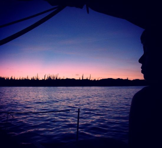 Sunset Silhouette Water Sky Nature Tranquility Scenics Sea Outdoors Ile Des Pins New Caledonia