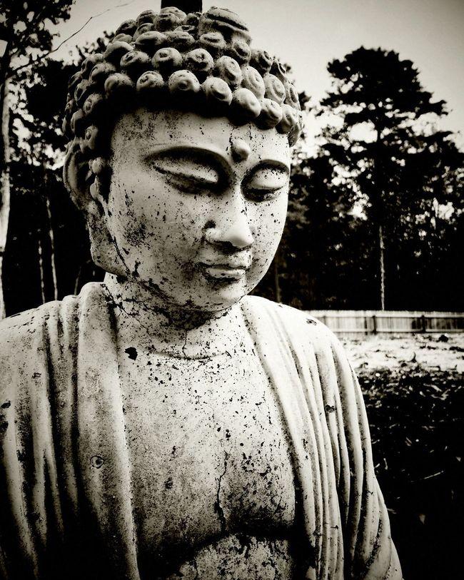 My Monochrome World Buddha Blackandwhite Monochrome