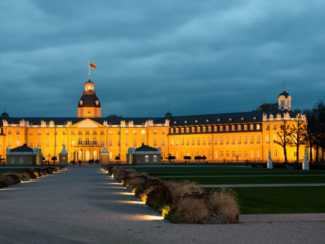 Karlsruhe Castle Castle Karlsruhe Karlsruhe Castle Architecture Backgrounds Building Exterior Built Structure City History Illuminated Night Travel Destinations First Eyeem Photo