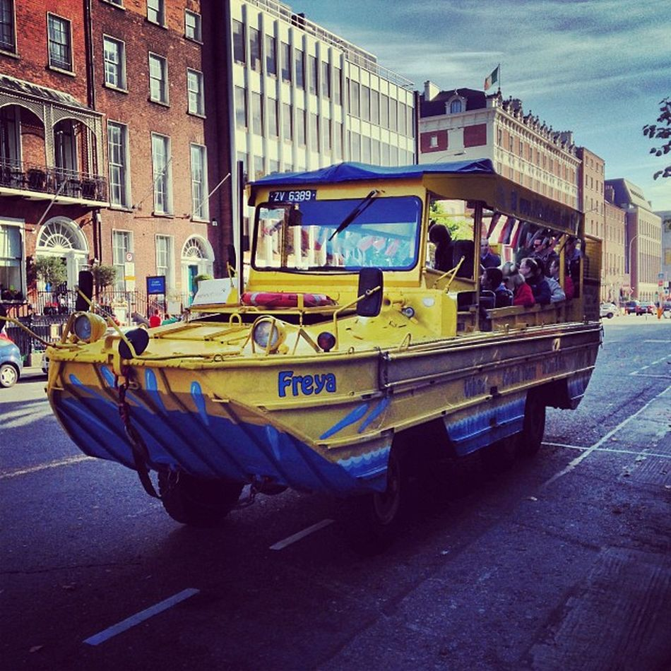 Hop-on to a new experience with VikingSplash... #tbex Tbex Ww2duck Vikingsplash Sightseeing Travel Dublin Bus Tour Reisen Vikings  Viking Travelblog Travelblogger Lovedublin