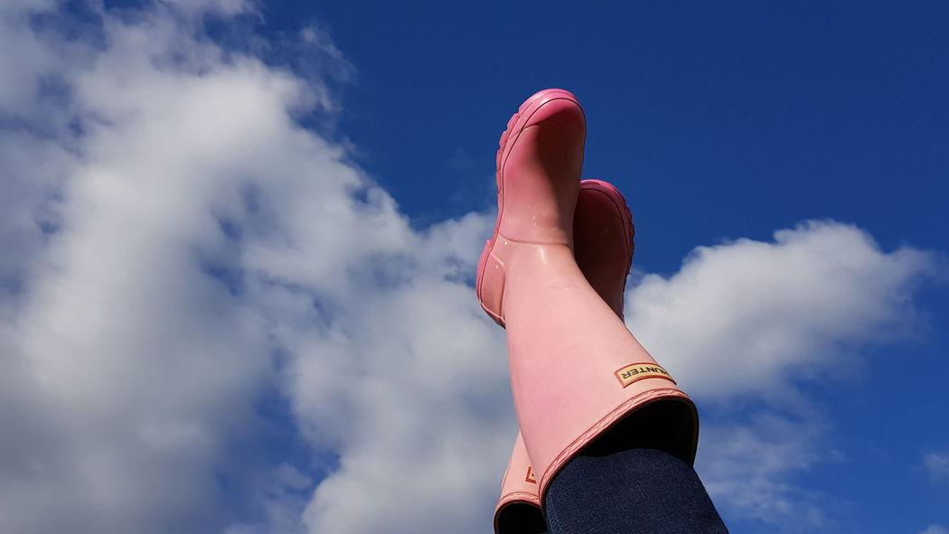 EyeEm Selects Cloud - Sky Pink Color Human Leg
