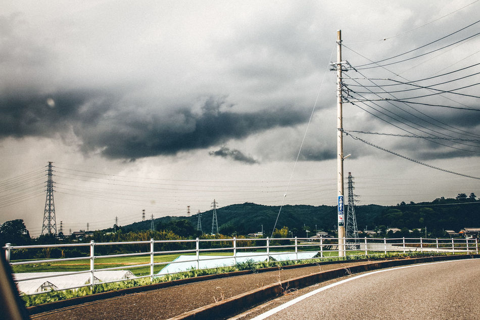 Cable Cloud - Sky Connection Countryside Day Drive By Shooting Electricity  Electricity Pylon Fuel And Power Generation Japan Landscape Nature No People Outdoors Power Line  Power Supply Road Sky Starting A Trip Technology Telephone Line Transportation Travel Travel Destinations