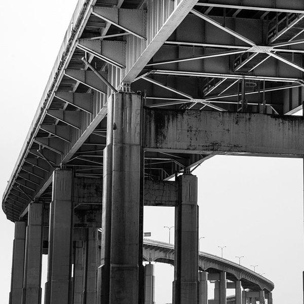 Skyway infinity Buffalo Buffalony City POTD Photooftheday Architecture Monochrome Blackandwhite Bnw