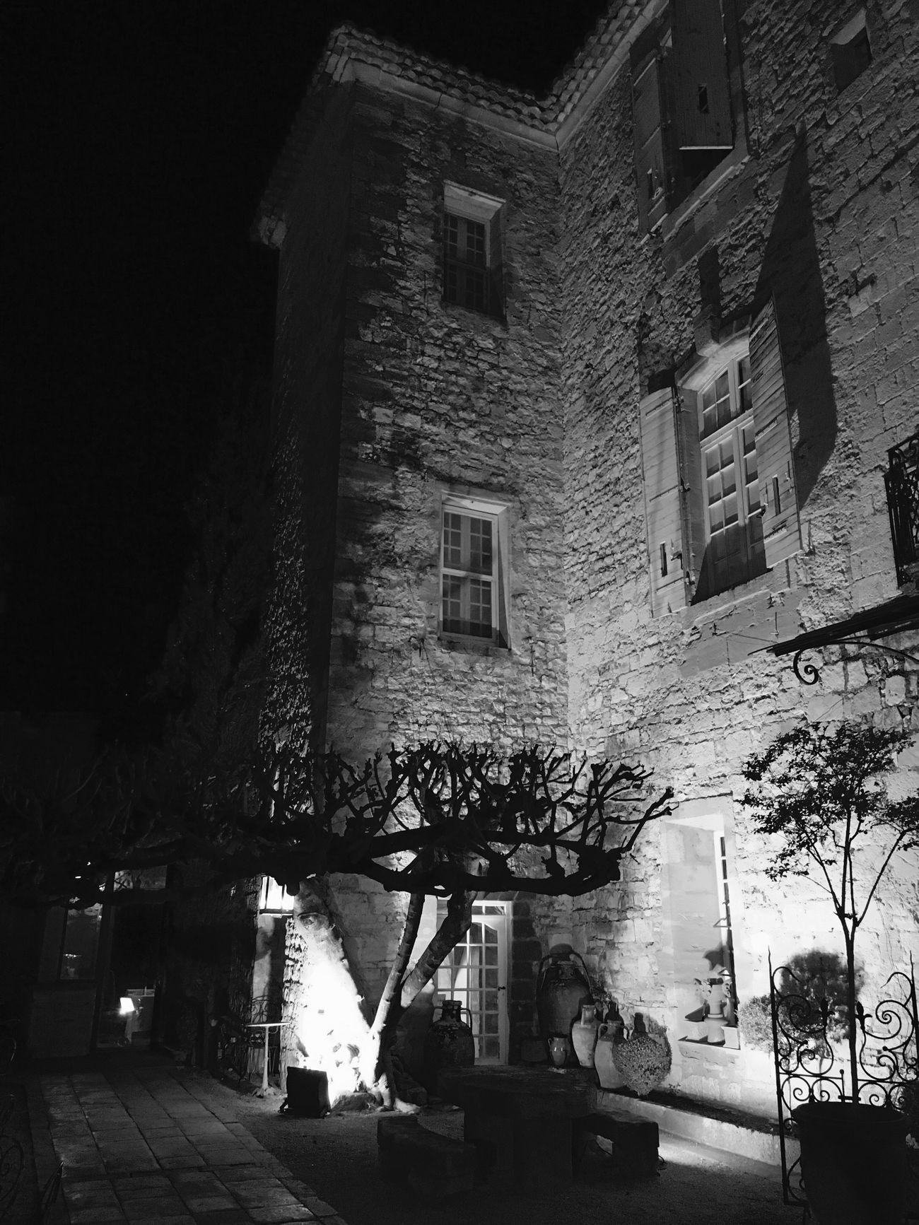 Chateau Castle Nuit Noir Et Blanc Gard