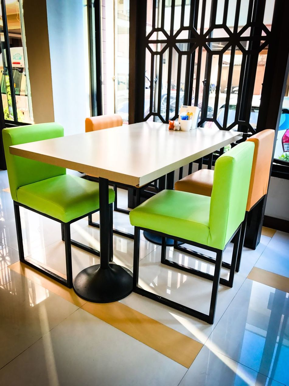 Table Chair Indoors  No People Empty Modern Day Food And Drink Chiangrai