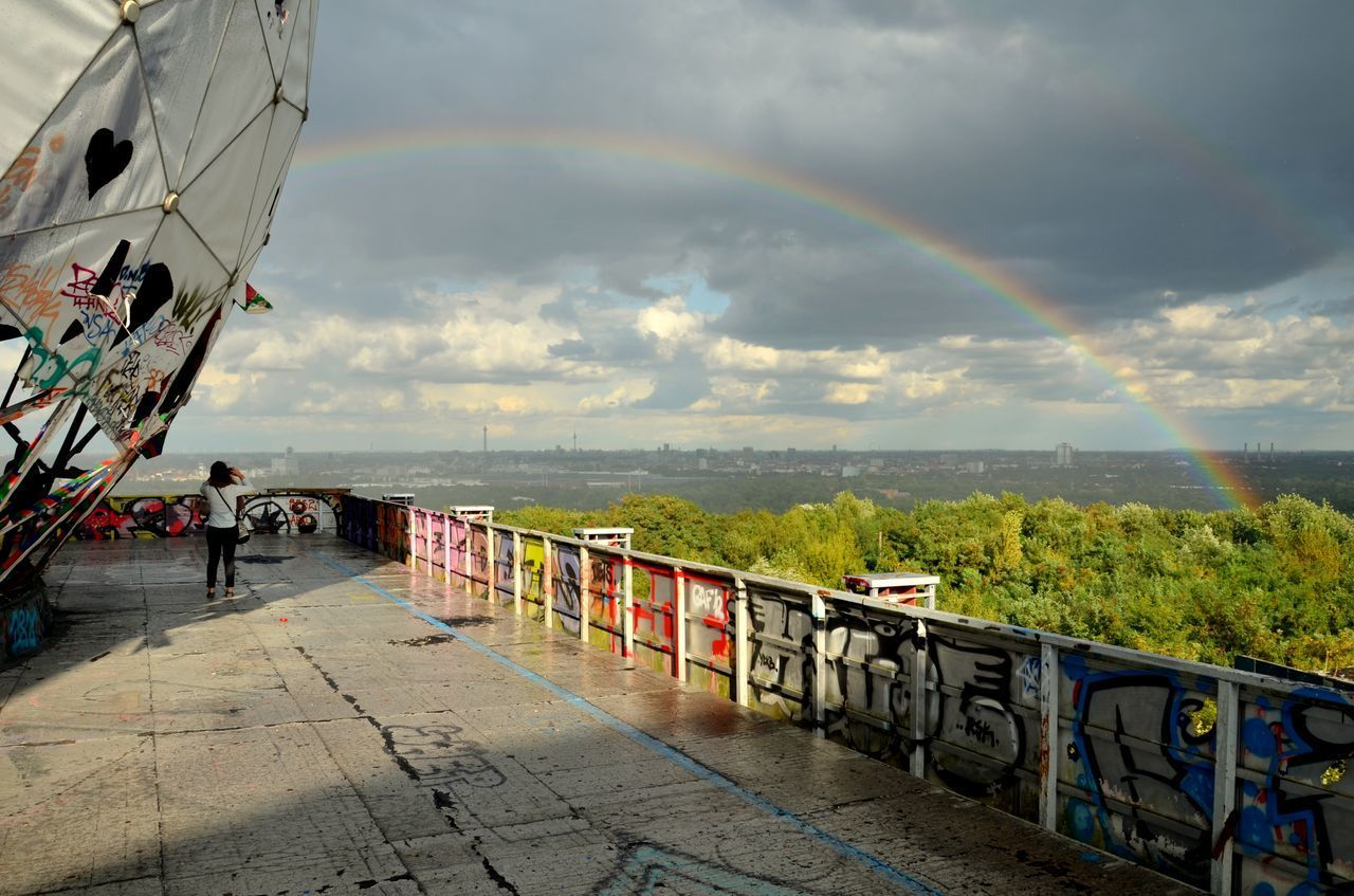 Beautiful stock photos of rainbow, Arch, Berlin Wilmersdorf, Cloud, Day