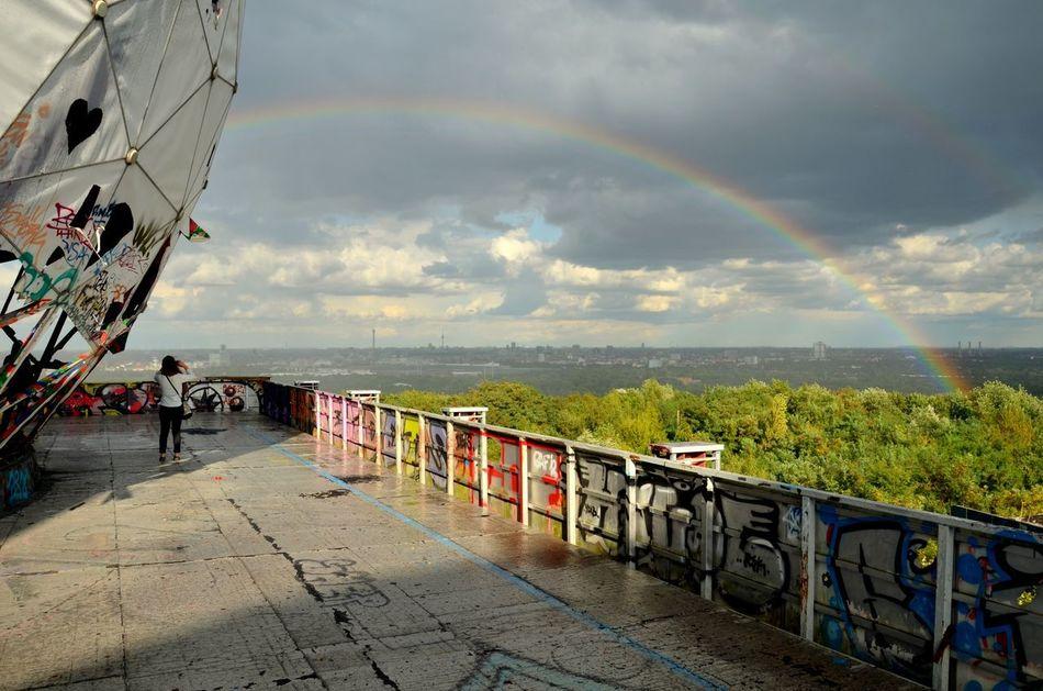 Beautiful stock photos of rainbow, Arch, Berlin Wilmersdorf, Cloud, Day