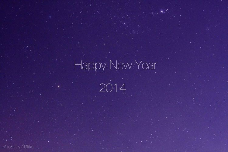 Happy New Year Stars Sky Night