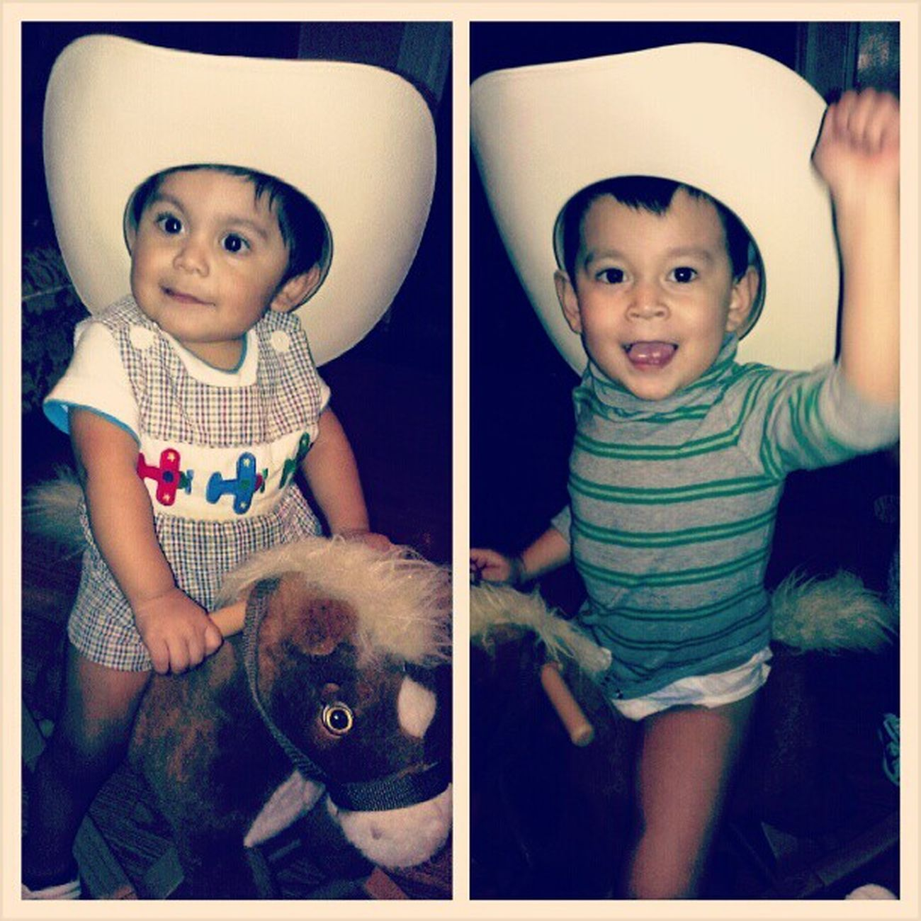 Cowboys Tejana Vaqueritos  Horsey  nephews being cute