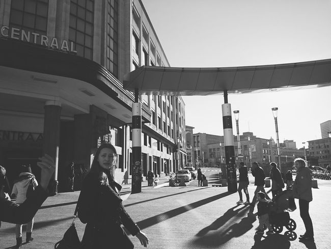 Hello World Brussels Belgium Capital City Urban City City Life Central Station Random People Walking Around The City  Blackandwhite Monochrome Photography Mobile Photography Smartphonephotography Streetphotography Light Backlit Shadows Sunlight Lines XPERIA Up Close Street Photography Streetphoto_bw Here Belongs To Me The Street Photographer - 2016 EyeEm Awards