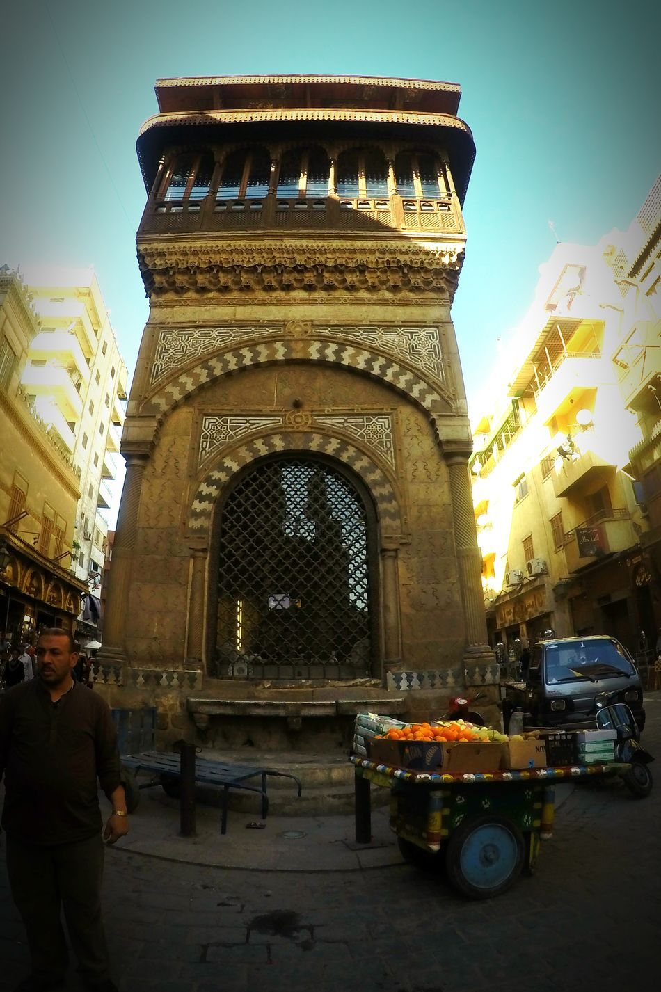 City Building Exterior Architecture Cityscape Historic Egypt Egyptian Myegypt Ancient Architecture Travel Destinations Cairo Khanelkhalili Almoez Street Old Building