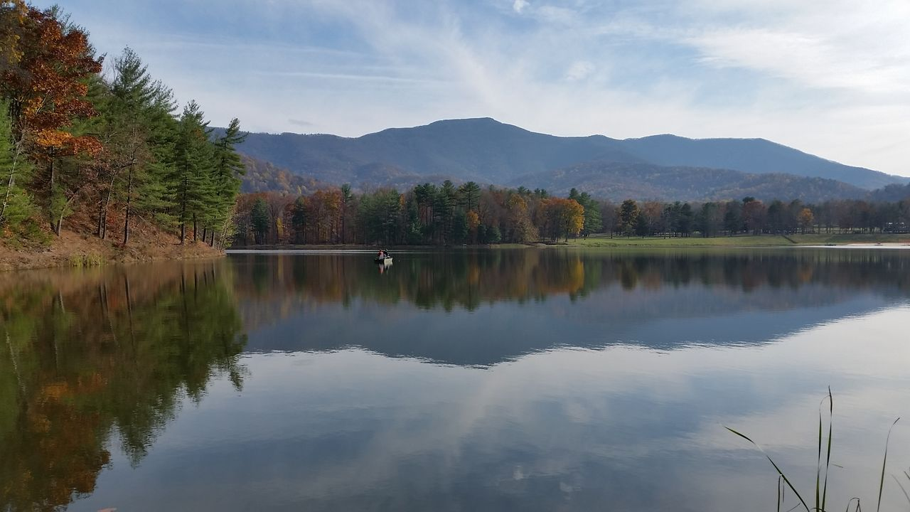 Beauty In Nature Lake Lake Arrowhead Landscapes With WhiteWall Mountain Mountain Range Nature Outdoors Reflection Scenics Sky Tranquil Scene Tranquility Water