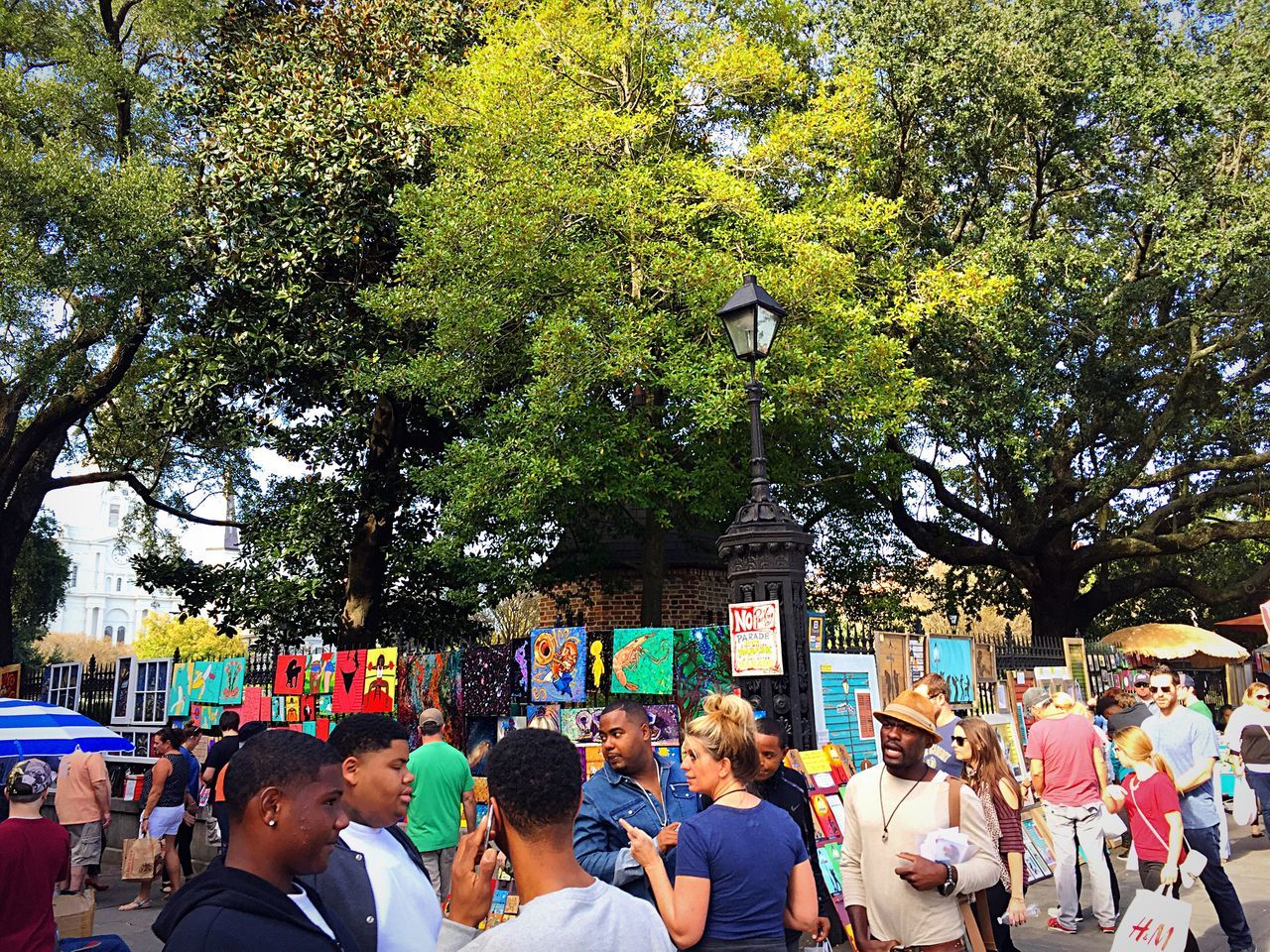 Jackson Square Tree Large Group Of People Growth Real People Outdoors Multi Colored Men Nature Crowd Day People Adults Only Adult Art ArtWork