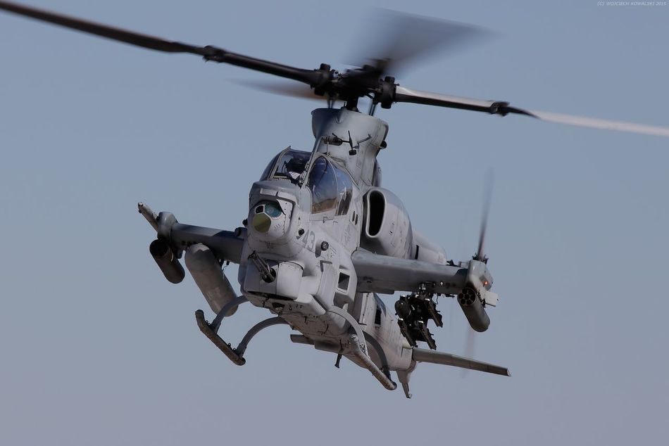 Aerospace Industry AH-1 AH1-Z Air Vehicle Army Attack Aviation Blue Chopper Cobra Day Flying Grey Helicopter Hellfire Marine Corps Marines Military Motion No People Outdoors Rotor Technology USMC Weapon