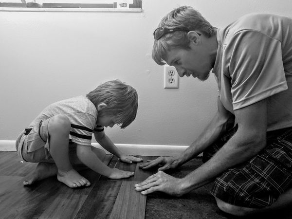 Manual Worker Adult Mature Adult Crouching Family With One Child Only Men Men Adults Only People Kneeling Father Working Full Length Occupation Day Togetherness Outdoors Young Adult EyeEm Diversity Father & Son Fatherhood Moments Close-up Child Bonding Indoors