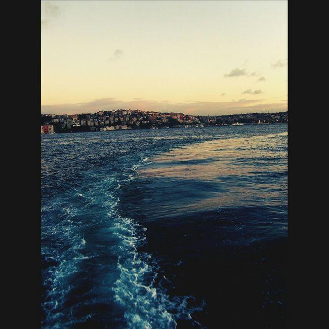 Istanbulbogazi Istanbul City Bosphorus Cityscapes City Life Urban Landscape Seascape Bosphorus Sunset