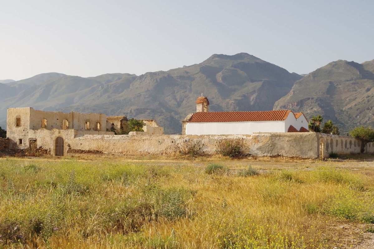 Cement Church Grass Mountain Mountain Range Non-urban Scene Wall
