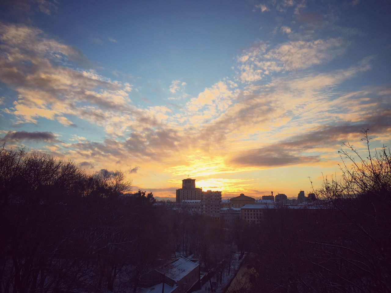 Sunset in Kiew Kyiv Sunset Travel Photography