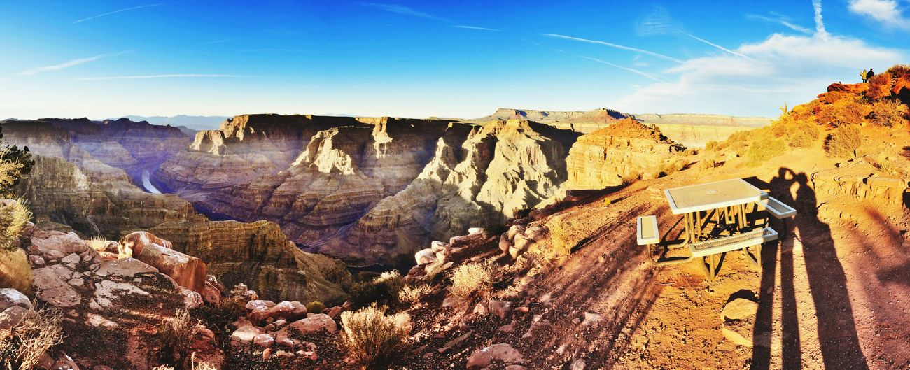 Shadow selfie@Grand Canyon West Rim Landscape_photography Panoramic Photography Golden Hour