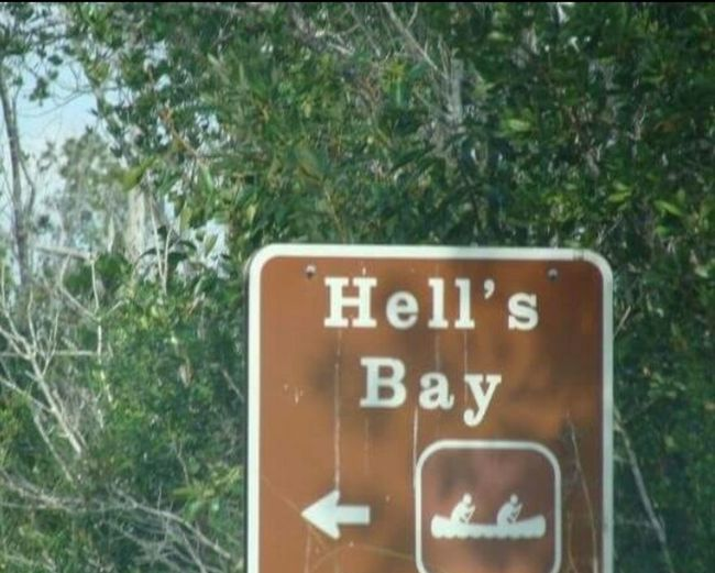 Hell's Bay Hells Bay Canoeing Road Trip Road Sign We Have Arrived! Fun Florida Keys Family Trip Cape Sable Everglades National Park